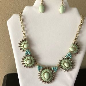 New Gorgeous subdued color necklace earring set